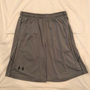 Men's Under Armour Grey Loose Fit Shorts Size LG